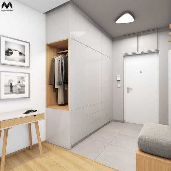 Built-in Shoe Cabinet Designs With Storage