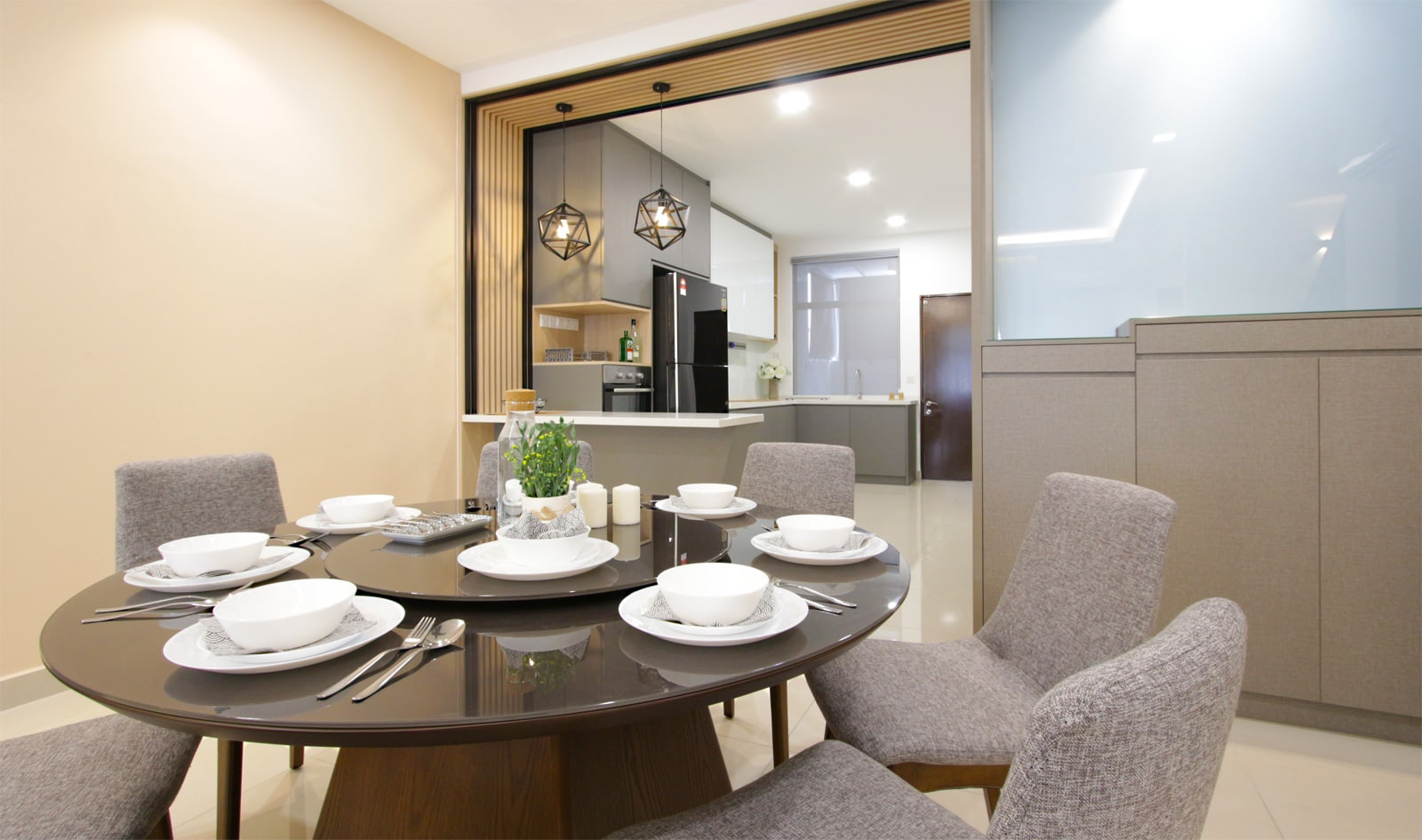 dining area of this house in southville city