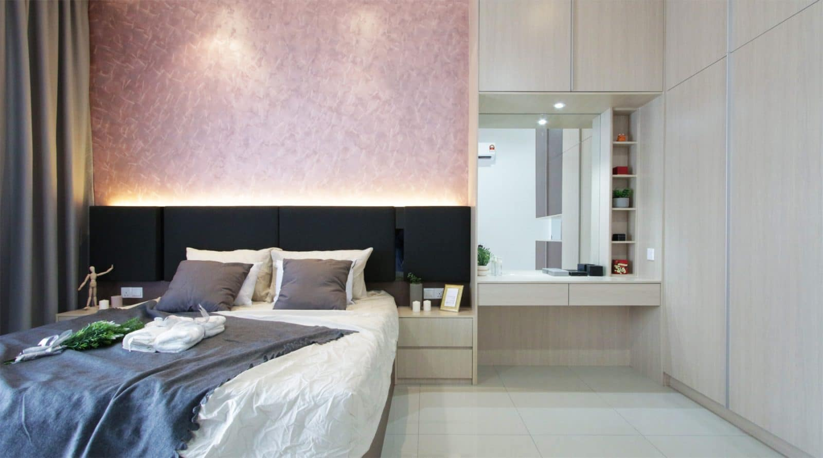 A contemporary master bedroom design in southville city
