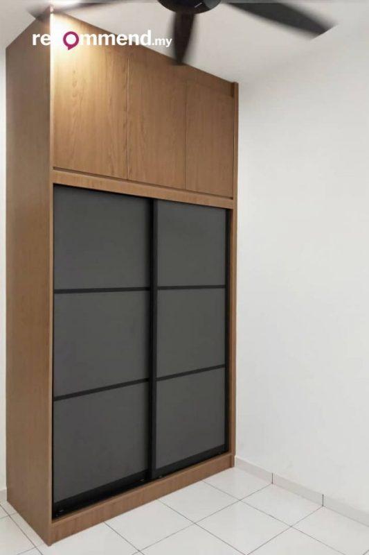 built-in wardrobe design setia alam