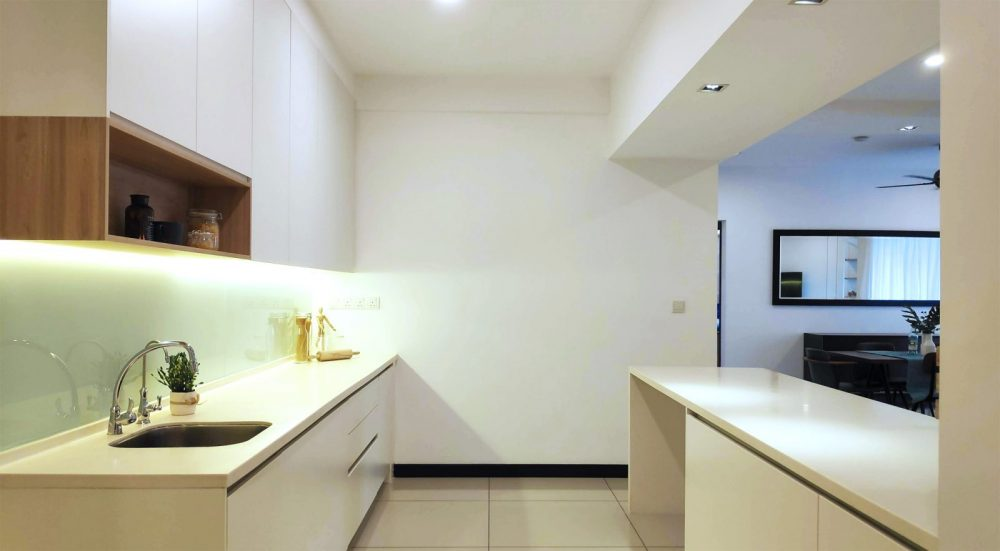Kitchen area after interior design