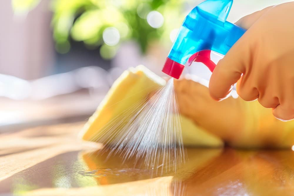 Surface disinfecting is the most basic method in infection prevention. It involves the process of wiping down all surfaces, especially high-contact items, with a diluted antimicrobial solution to remove any visible layer of dust, mould and germs.