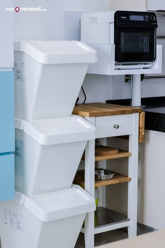 Stackable storage solutions for the kitchen area