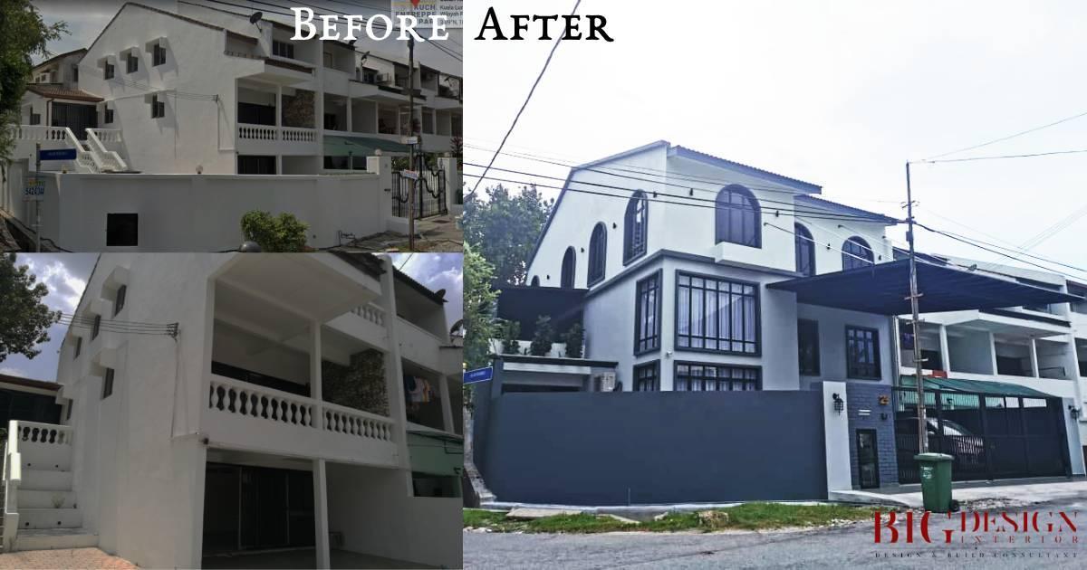 Corner house renovation in Kuchai Lama by Big Design Interior