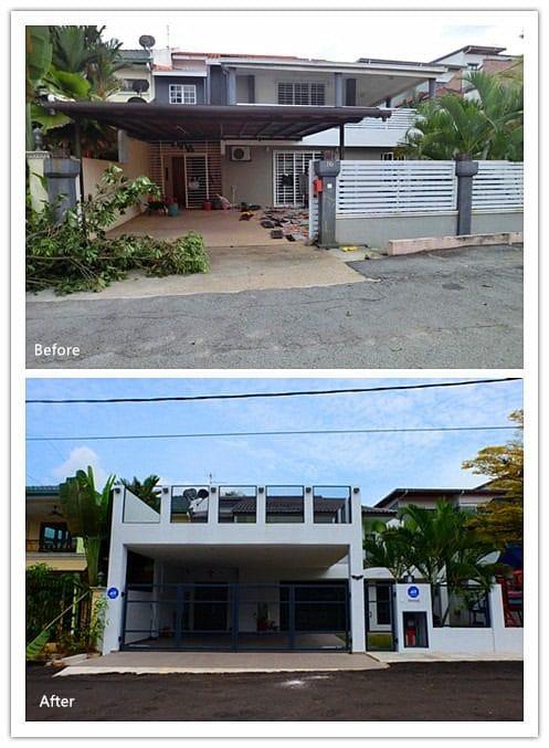 Semi-d renovation in Ampang by Pembinaan Megah Jaya