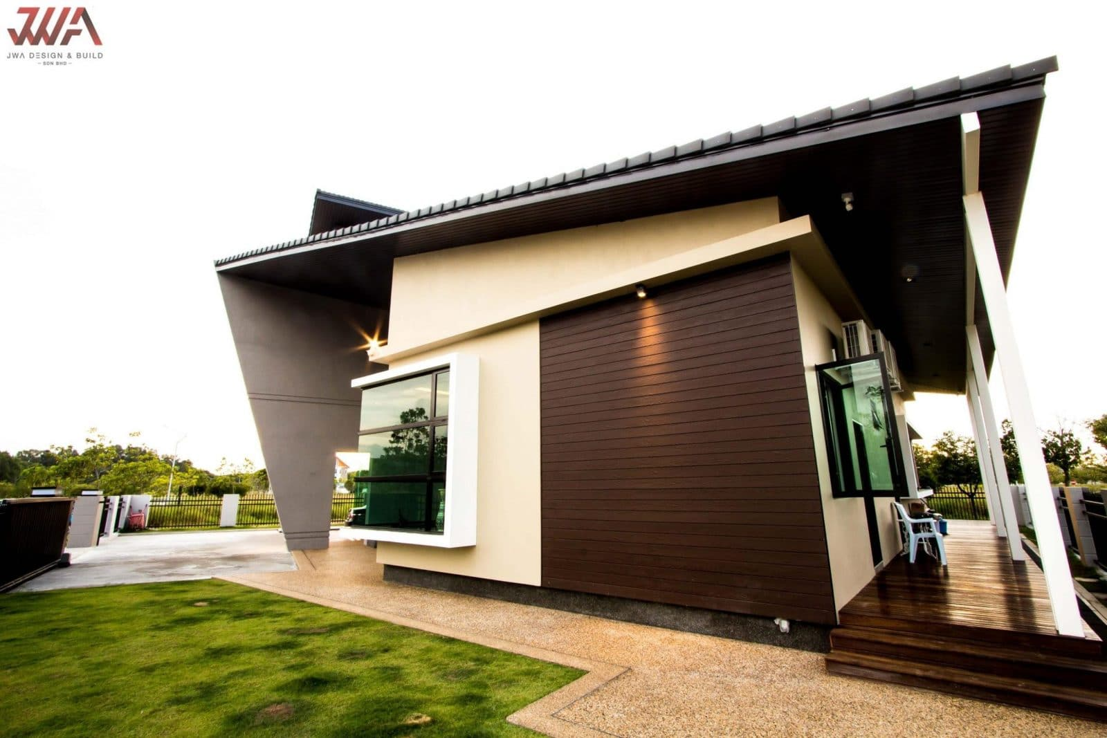 Bungalow exterior design by JWA Design and Build