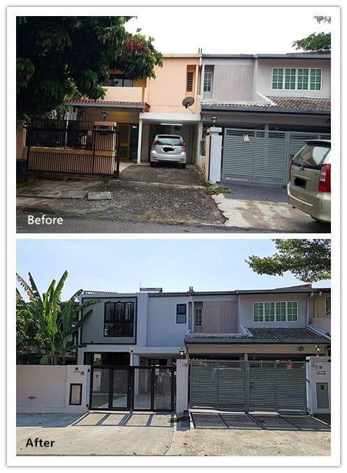 Terrace house renovation in Damansara by PMJ Pembinaan Megah Jaya
