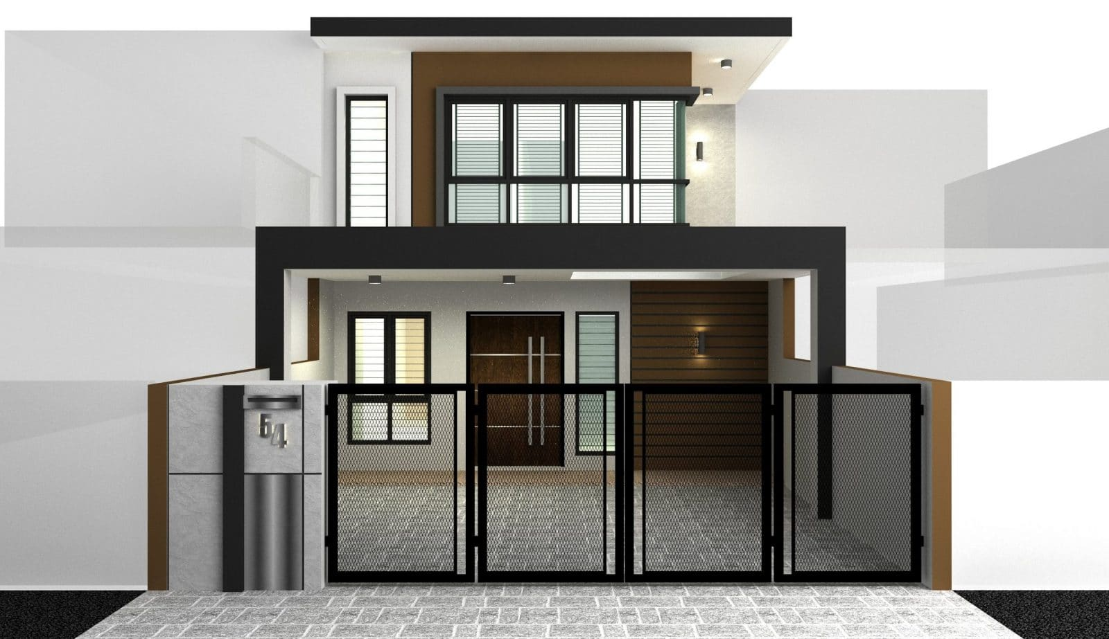 3D design of terrace two-storey house in BK2 Kinrara by Dyreka Group (a Recommend.my partner)