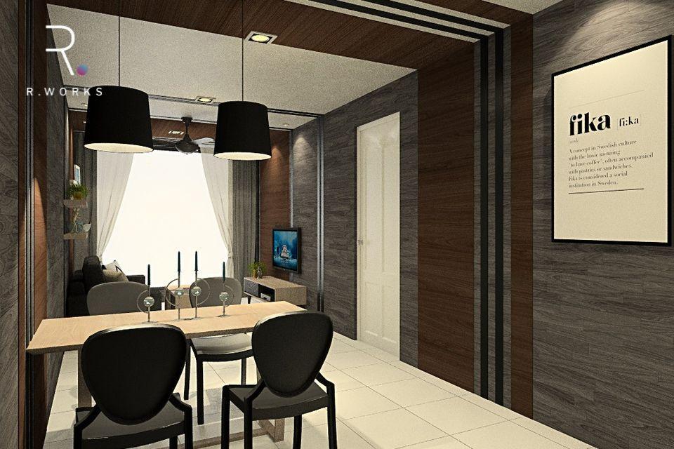 Reka bentuk design rumah modern ruang tamu