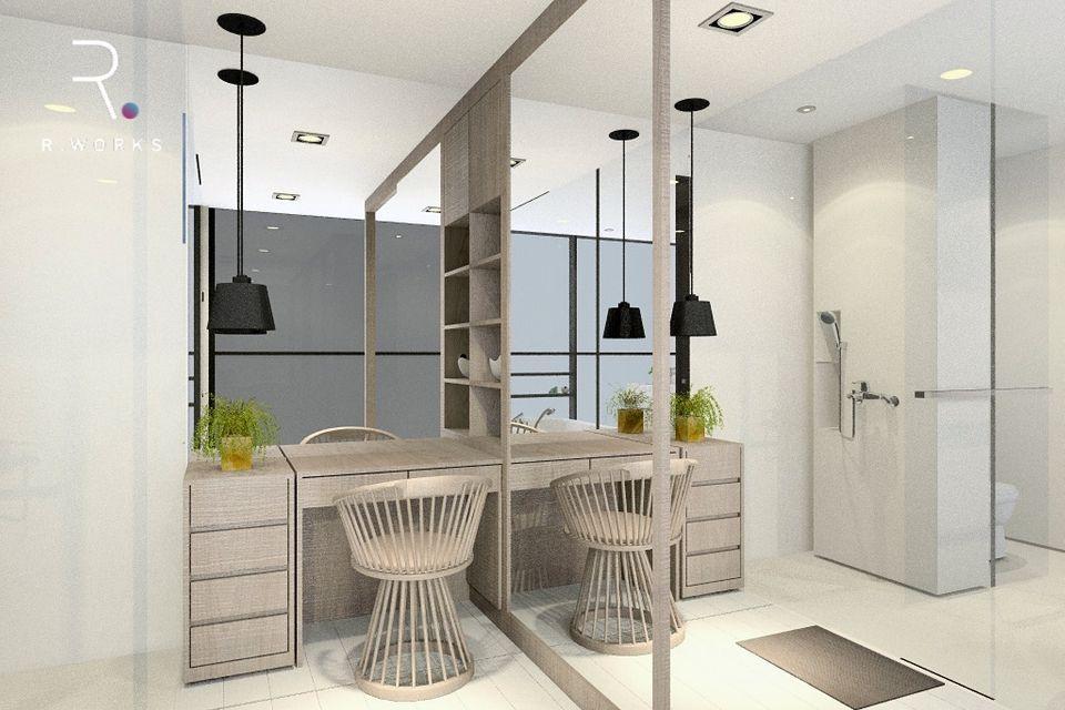 Reka bentuk 3D design rumah modern minimal