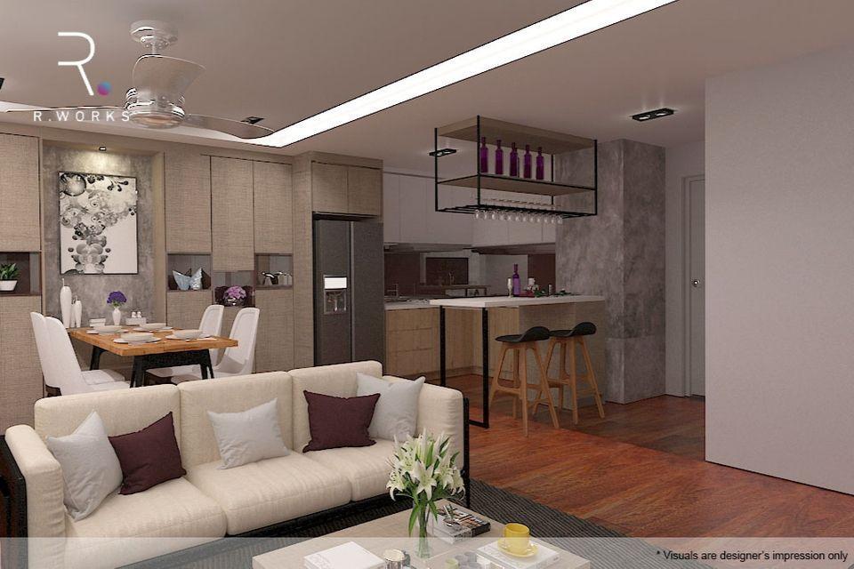 Design rumah modern 3D reka bentuk