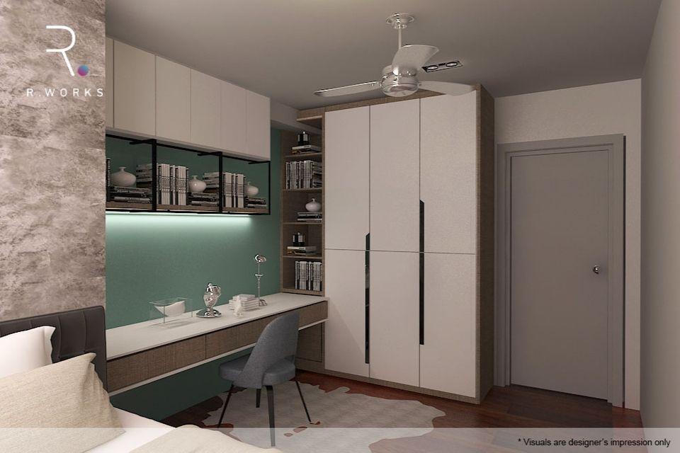 Design rumah modern 3D bilik tidur