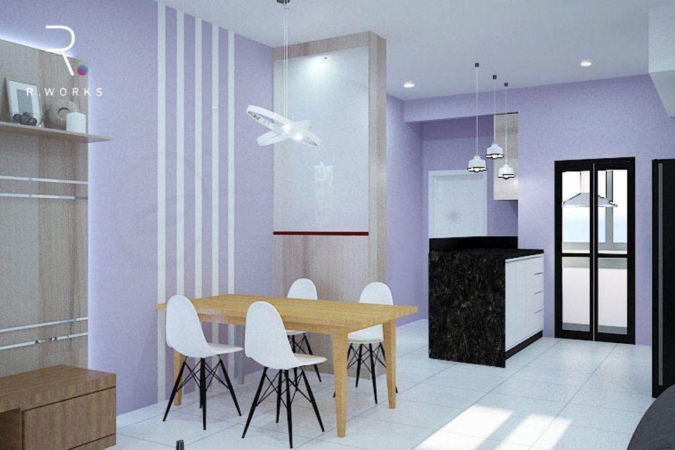 Design rumah modern 3D ruang tamu