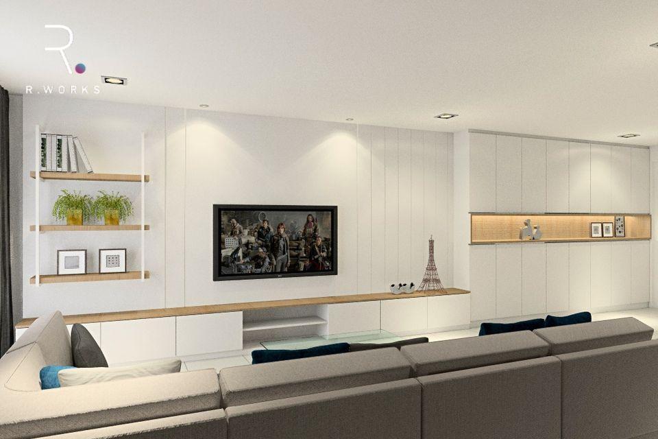 Design rumah modern minimal 3D