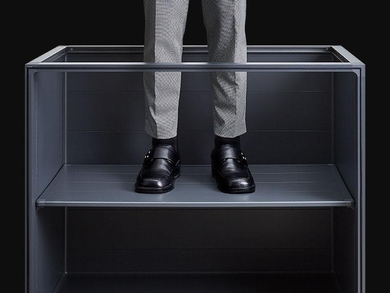 Kabinet aluminium dengan rak kabinet yang kukuh dan tahan lama