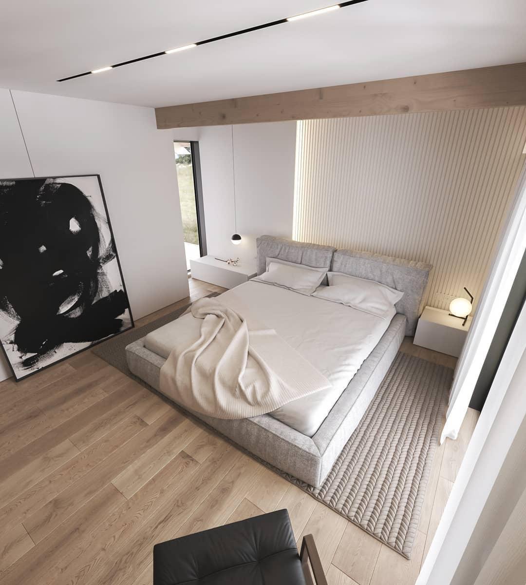 Reka bentuk bilik tidur 3D yang realistik reka bentuk rumah design modern