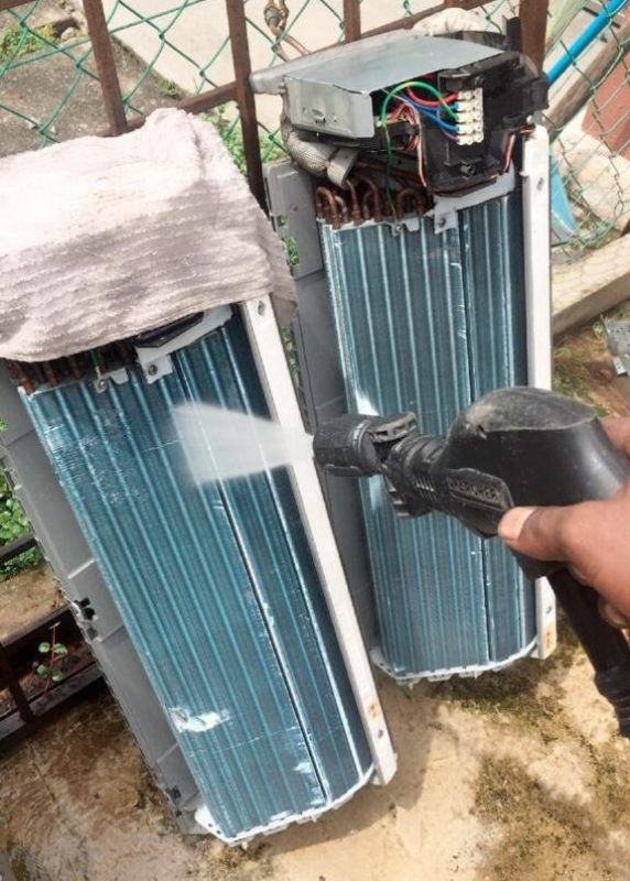 Aircon chemical cleaning for evaporator coil