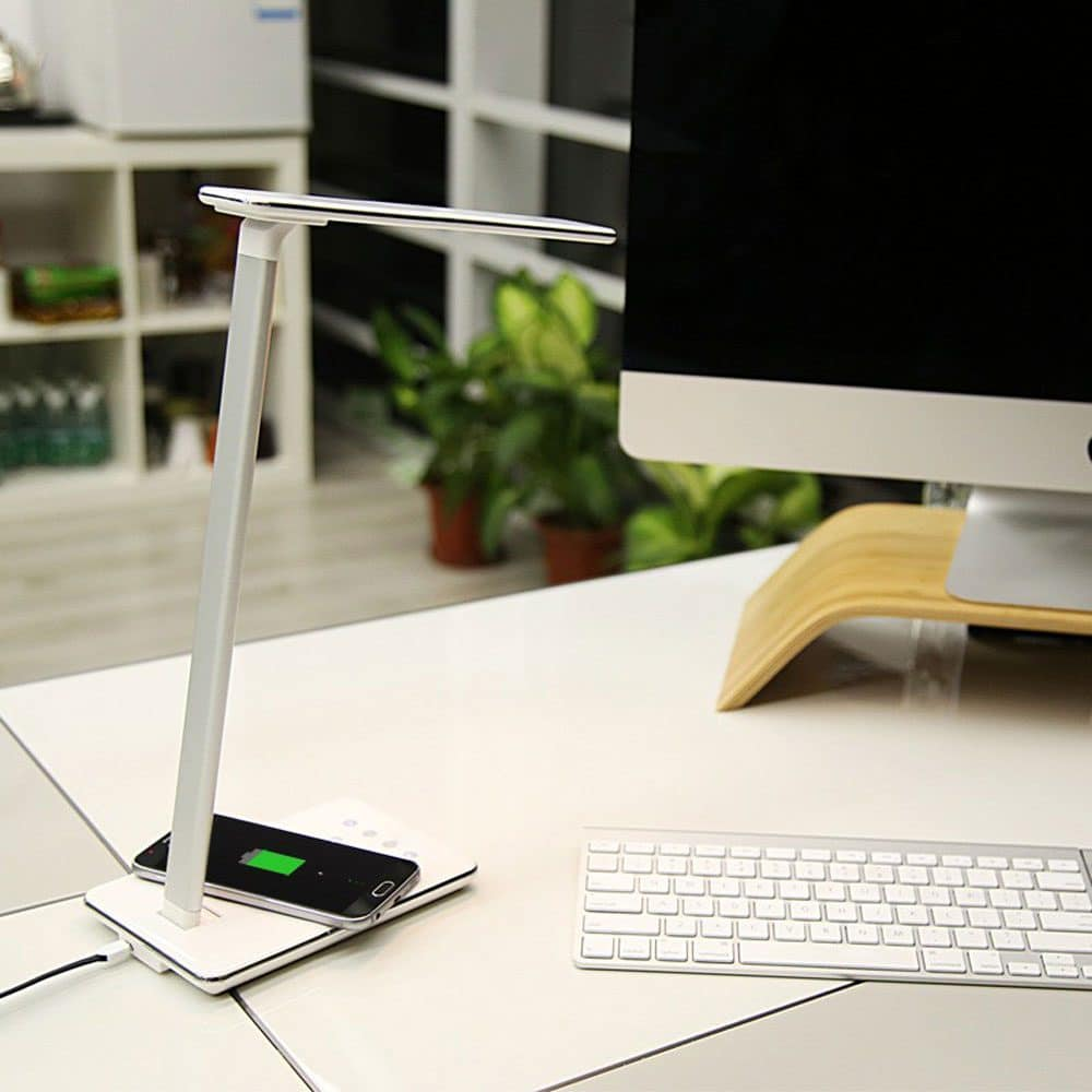 2 In 1 Foldable LED Desk Lamp with Qi Wireless Charger