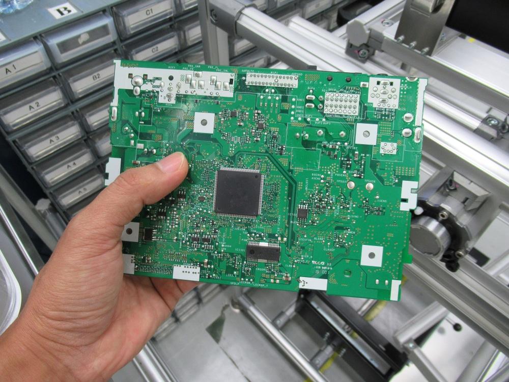Mesin basuh dengan papan PCB