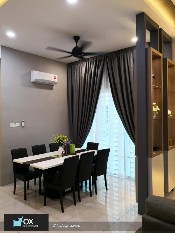 2405 sqft Semi-Detached House in Pearl Tropika-Pearl City by OX interior design - dining room
