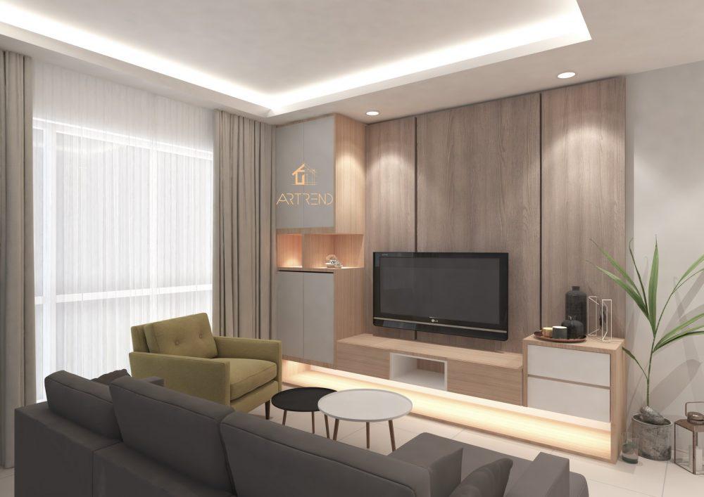 Summerskye Residences at Bayan Lepas by Artrend Interior Studio - living room