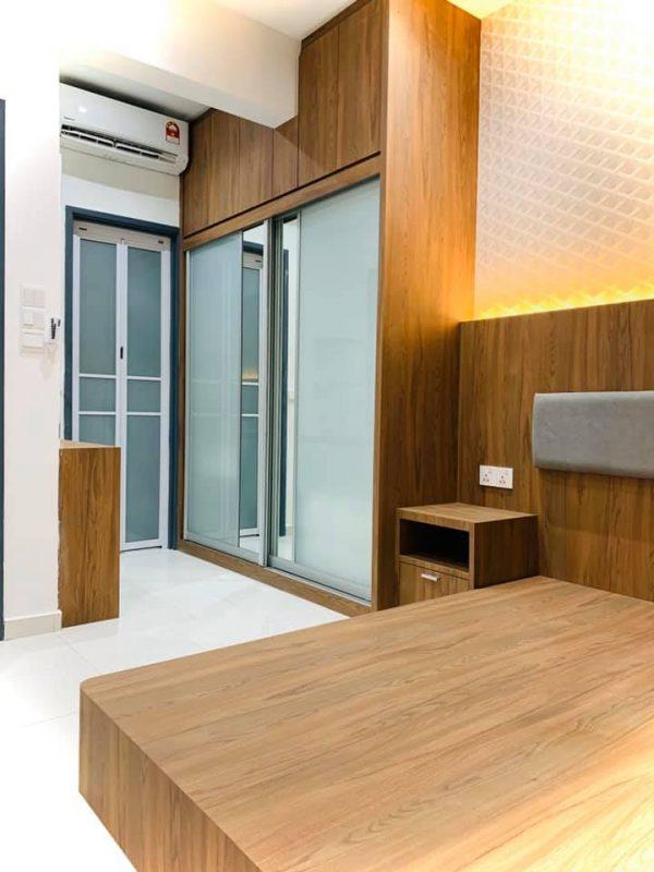 850sqft condo interior design at i-Santorini by Inazumi SEF - bedroom