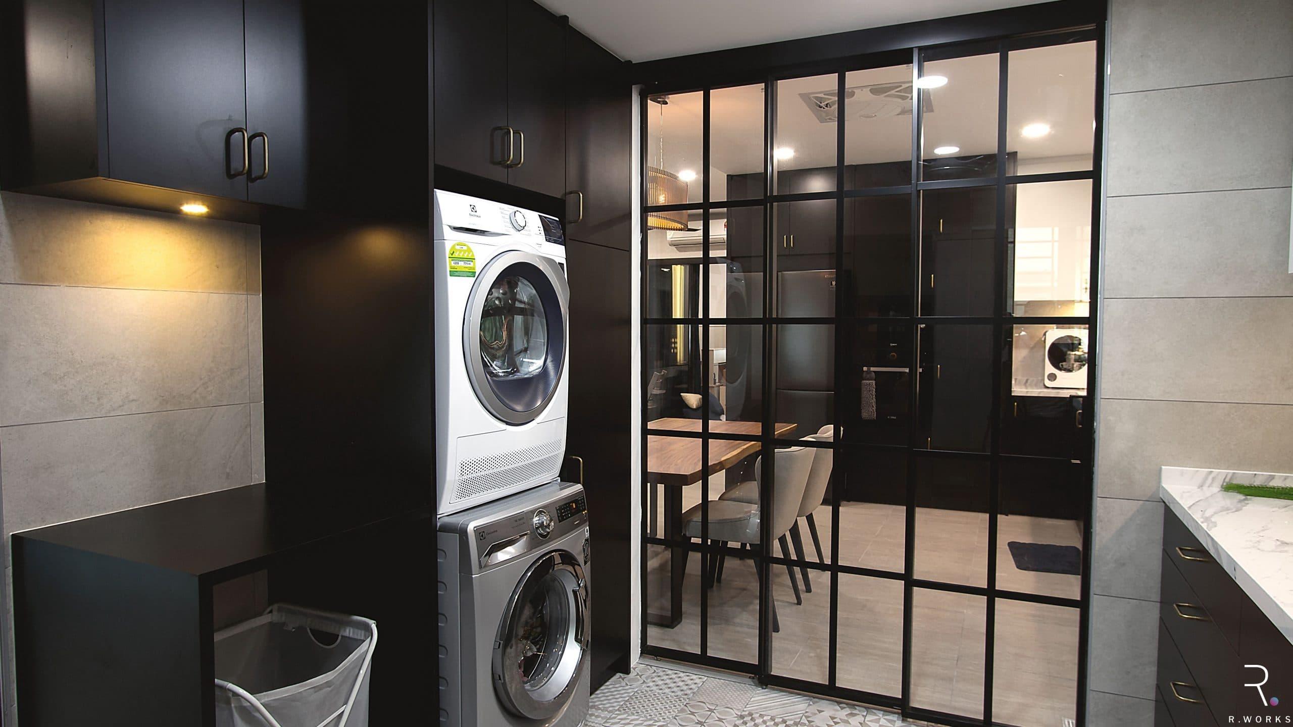 Townhouse modern wet kitchen after interior design