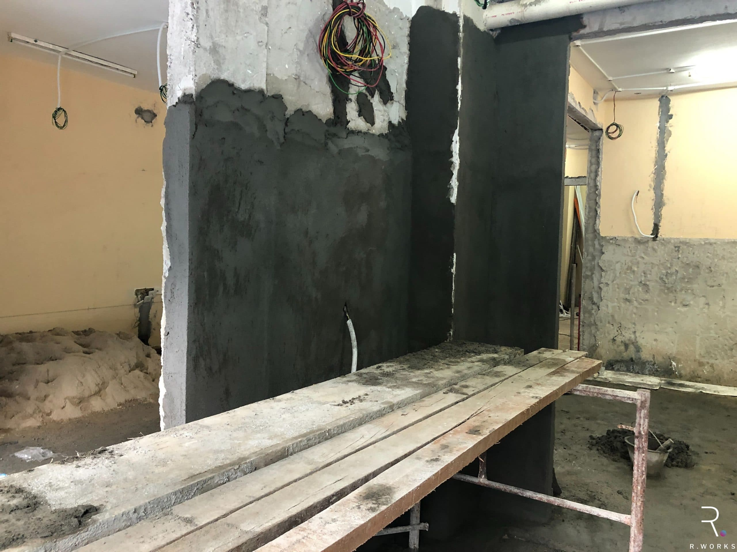 townhouse wet kitchen before interior design