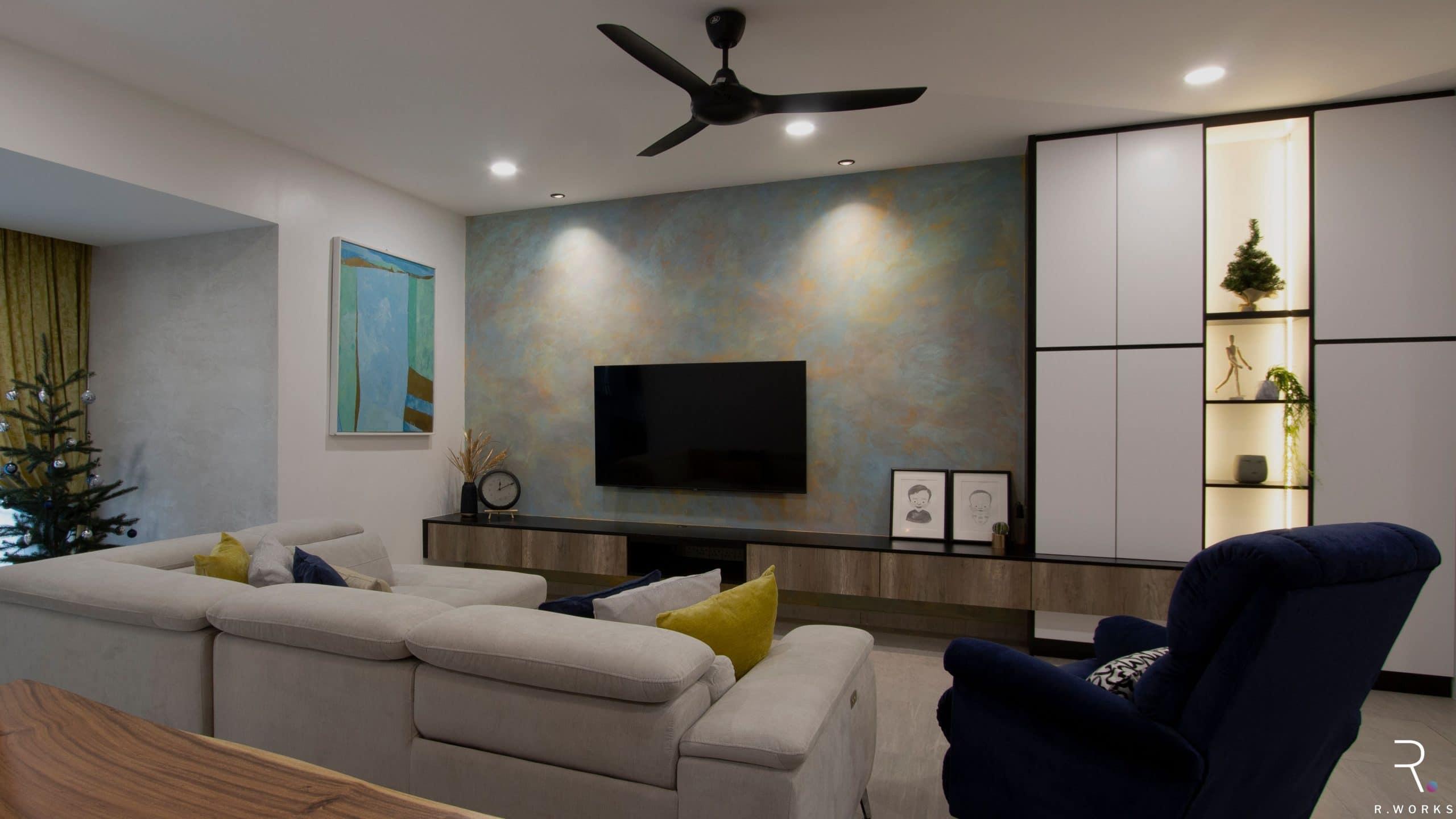 Modern contemporary townhouse interior design living room