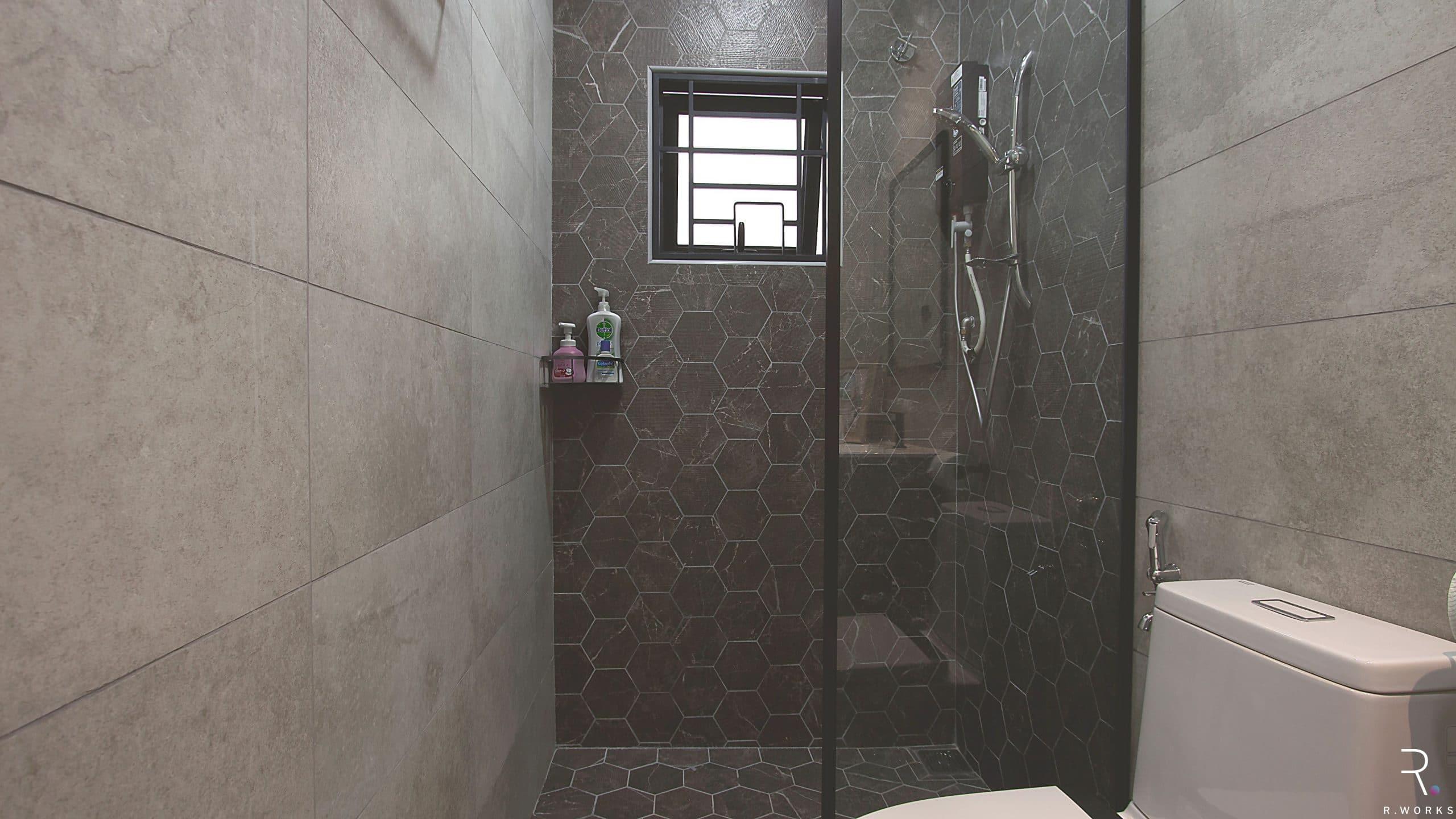 Modern design bathroom for townhouse interior design