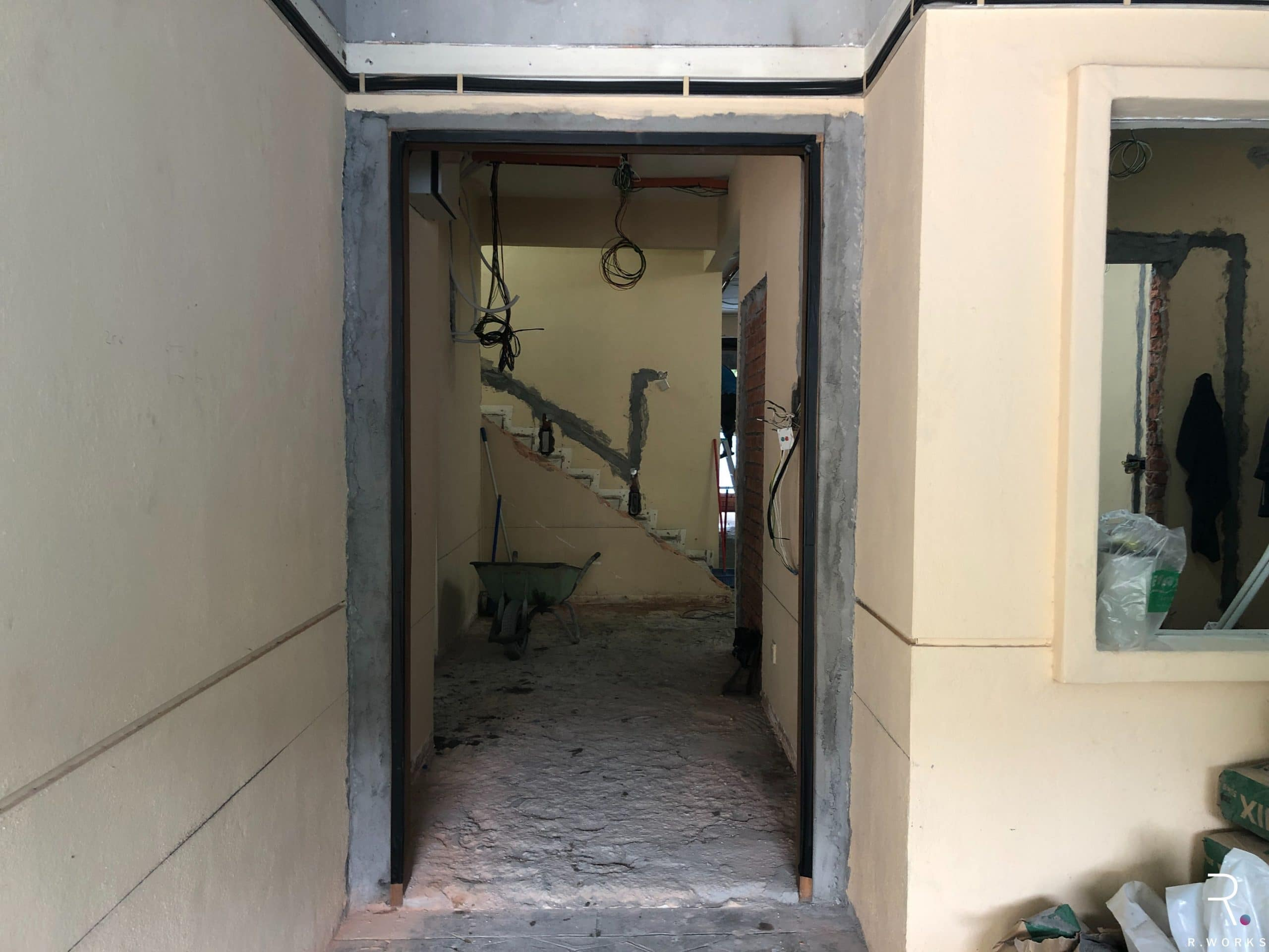 Townhouse entrance before interior design
