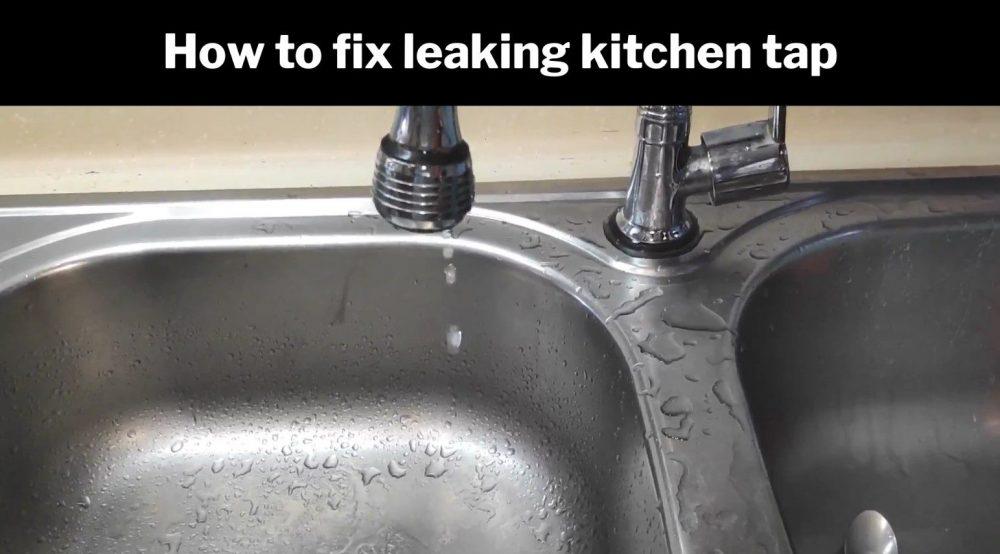 Leaking kitchen tap