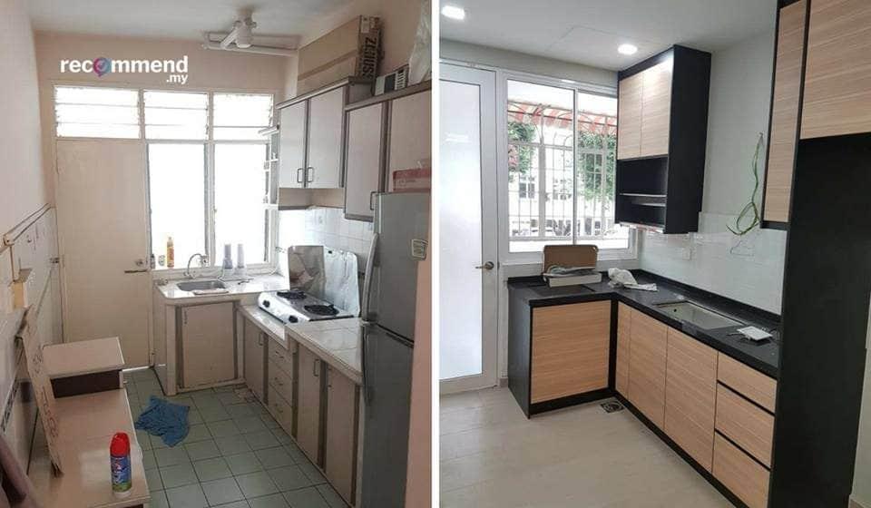 Renovasi tingkap dapur di Subang