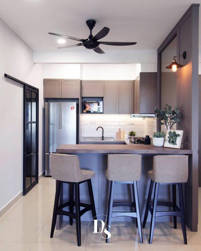 1400sqft Condo Design in Ramah Pavilion, Penang by Dexign Studio - kitchen