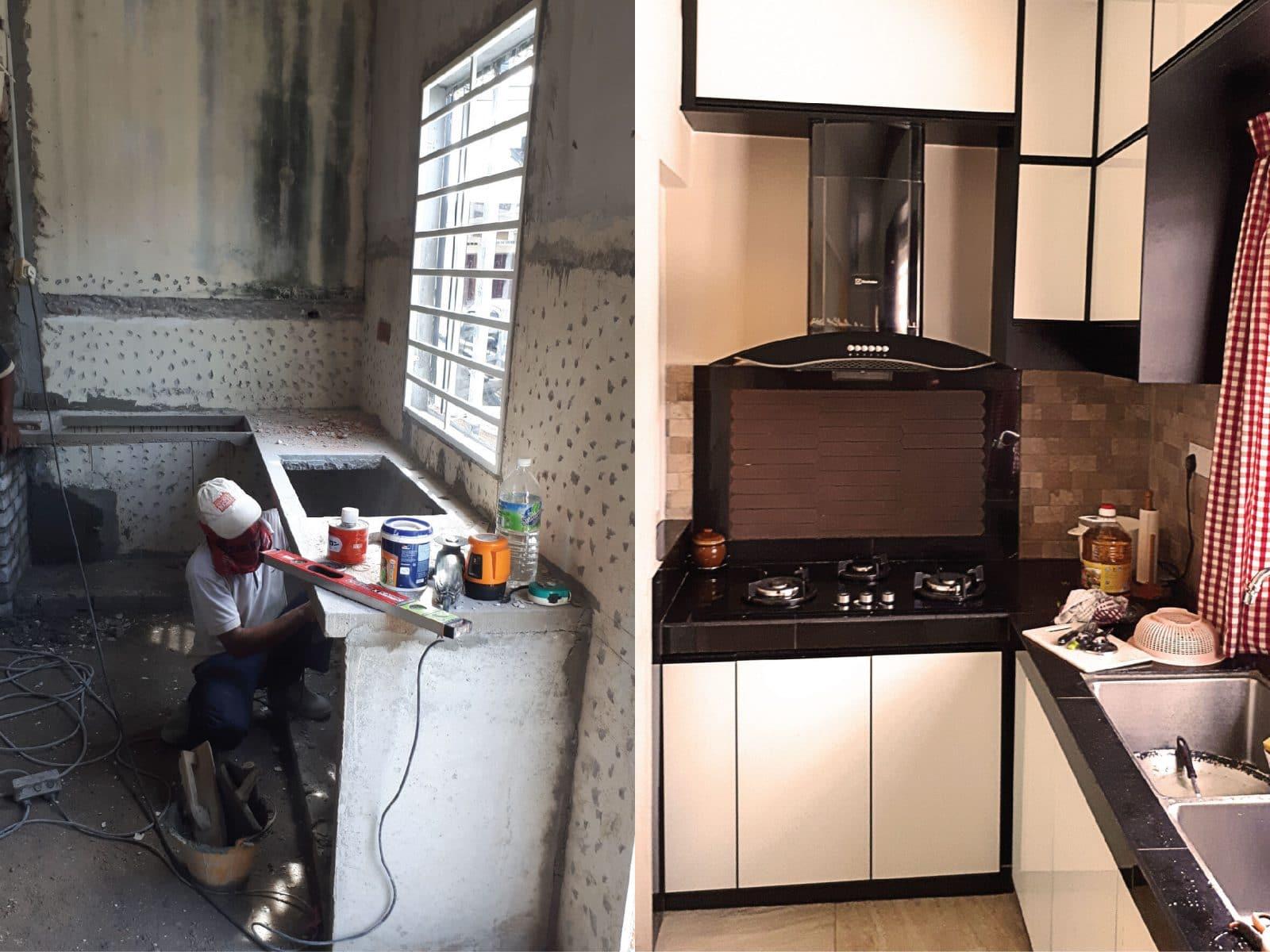 Renovasi dapur kering dan dapur basah di Klang