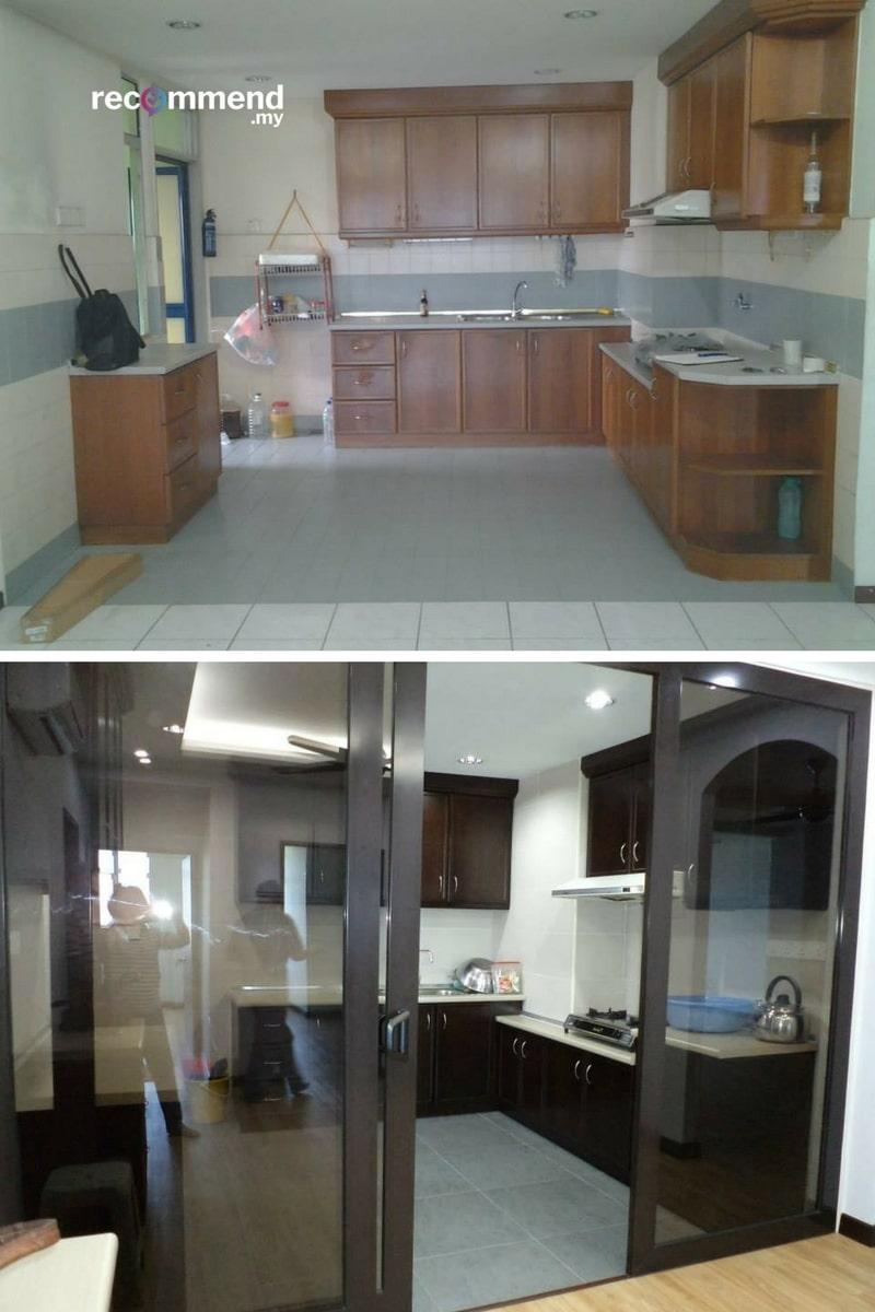 Lantai jubin dapur di Bukit Jalil