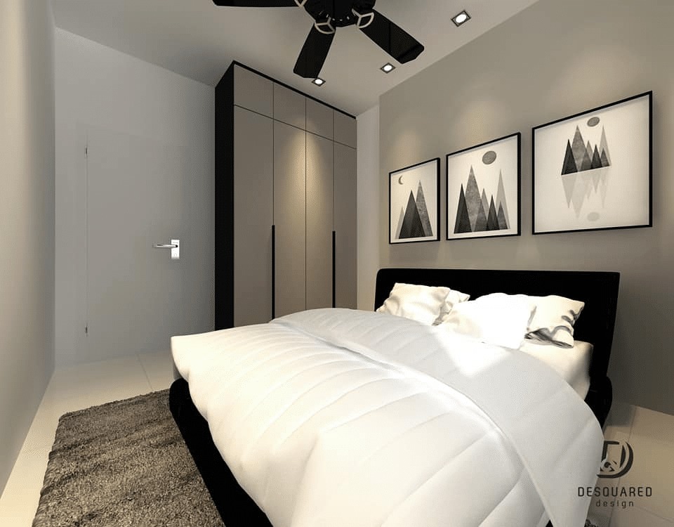 Modern Living in Sky Vista Condo, Penang by Desquared Design - bedroom concept