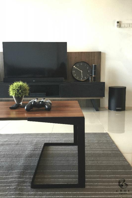 The Peak Residences interior design in Penang by Grov Design Studio - living room tv cabinet