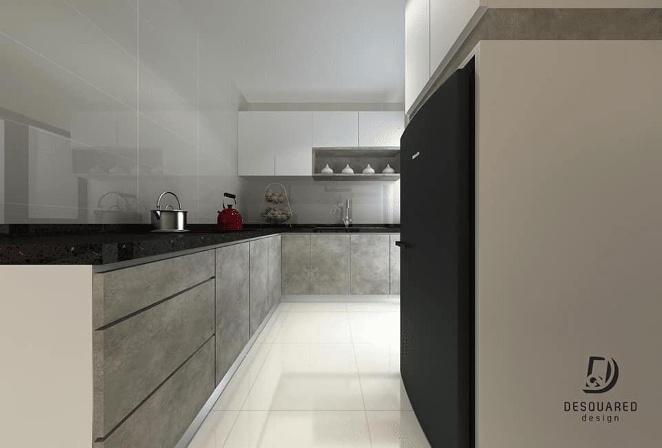 Modern Living in Sky Vista Condo, Penang by Desquared Design - kitchen concept