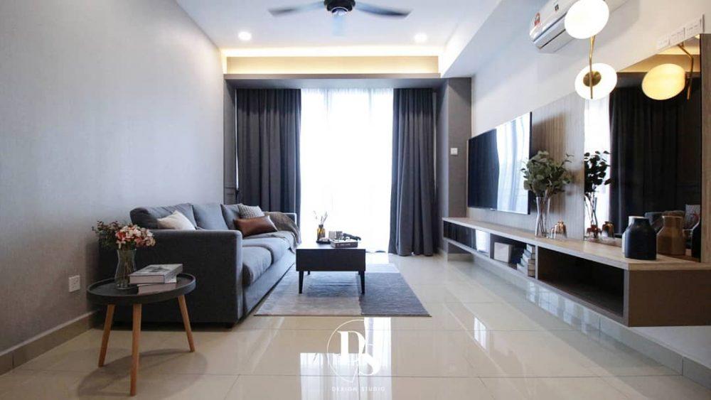 1400sqft Condo Design in Ramah Pavilion, Penang by Dexign Studio - living room