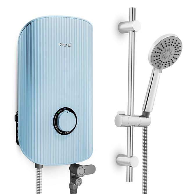 Rinnai REI-E380DP-C-BL in Sky Blue instant water heater malaysia