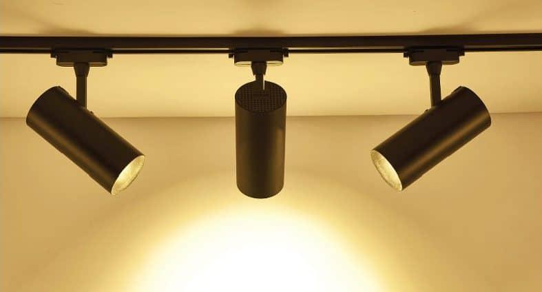 Matte black LED track spotlight. RM45