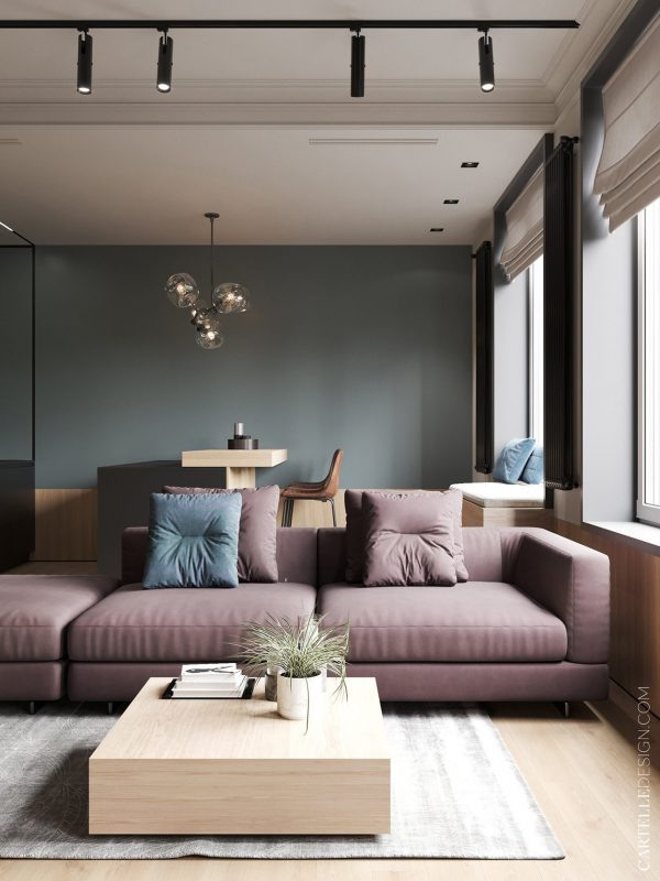 710 sqf apartment in Moscow by Cartelle Design
