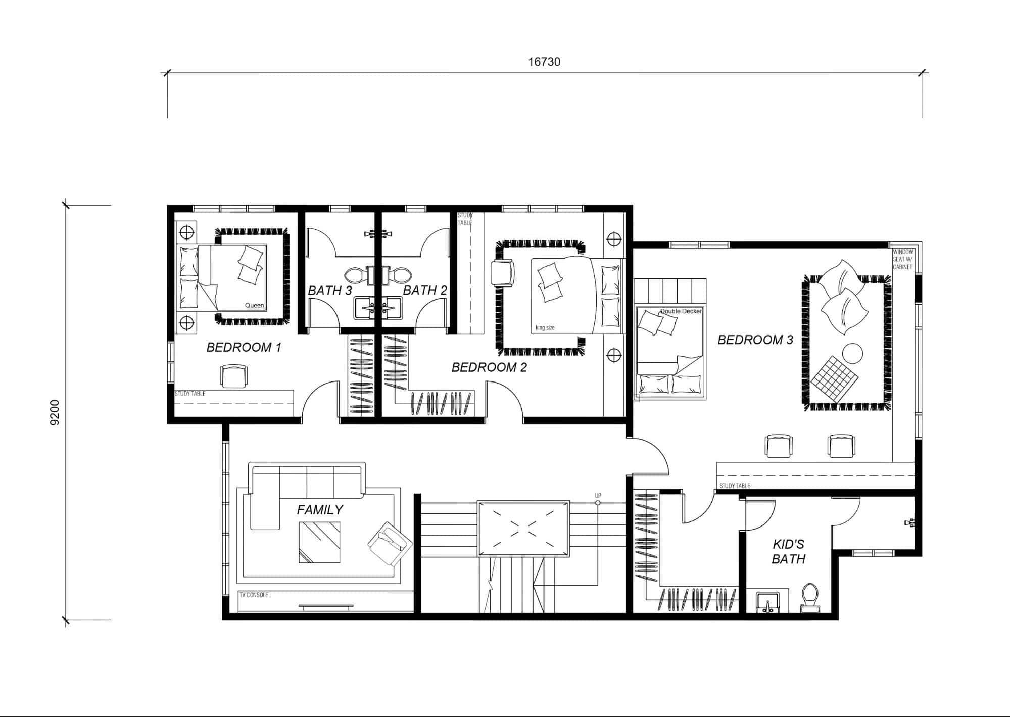 First floor layout Ambang Botanic 2