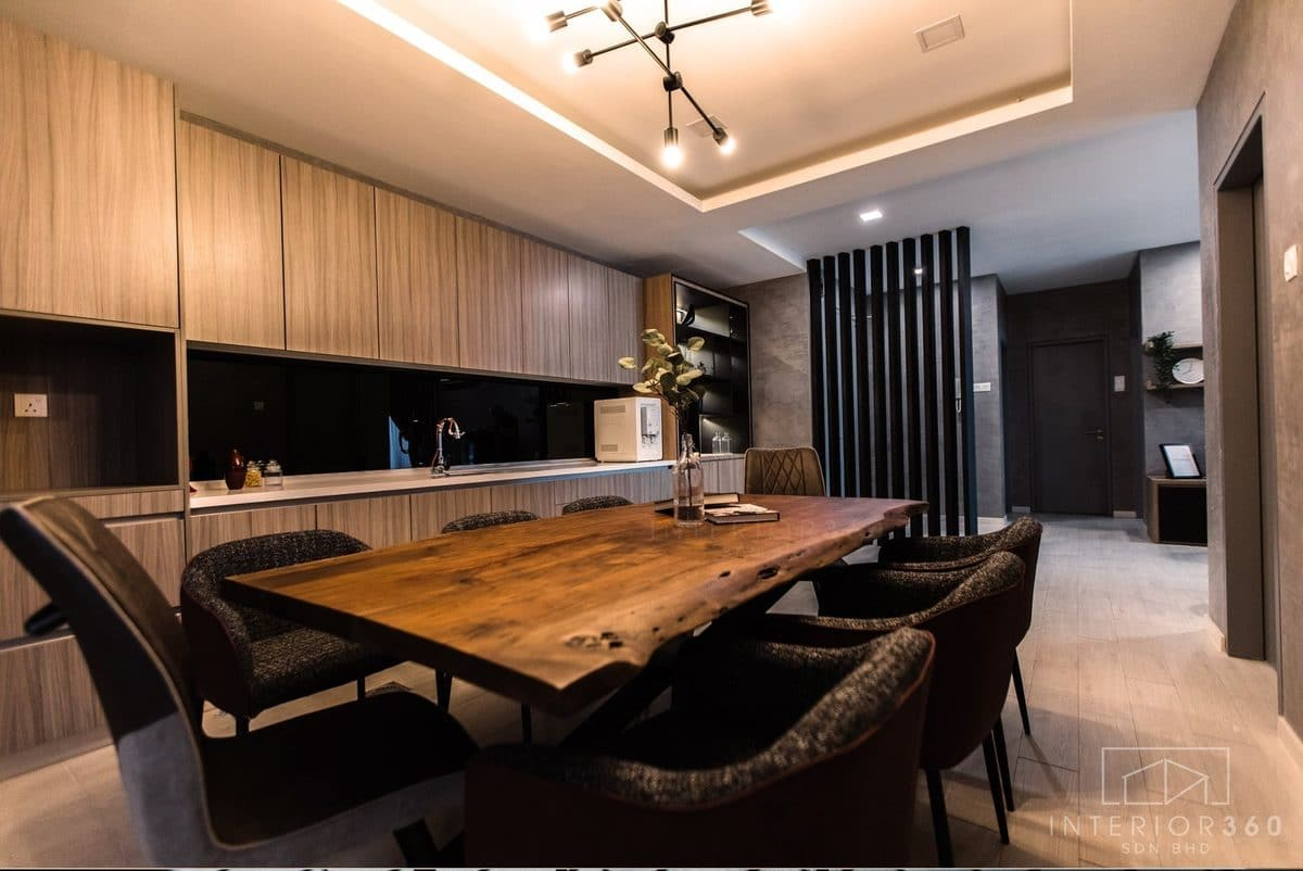 solid wood dining table malaysia by Interior360