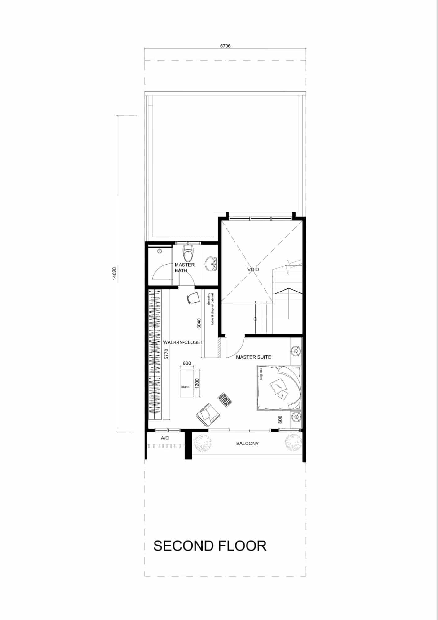Second floor plan hermoso residences kuantan interior design