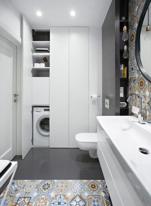 Bathroom cabinet for washing machine