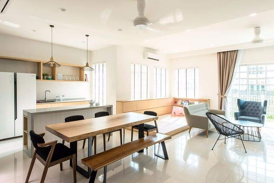 Muji terrace home living room design