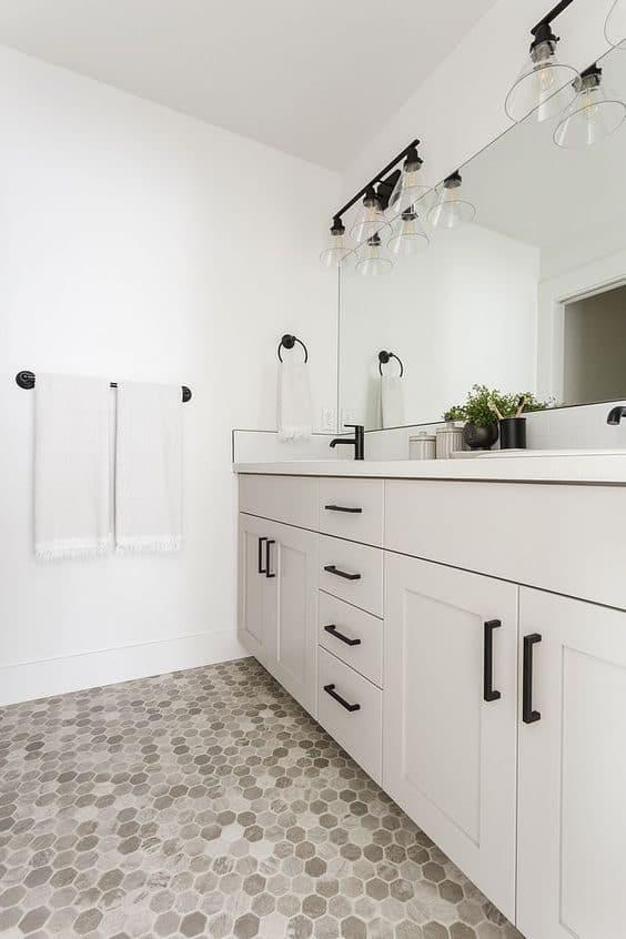 Under-sink floating bathroom cabinet