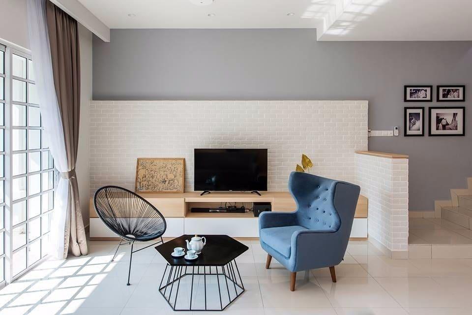 Minimalist muji terrace home living room design